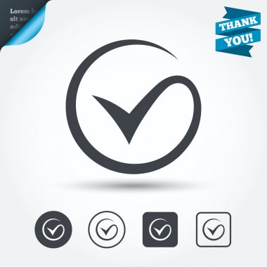 Tick sign icons