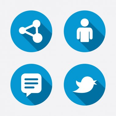 Human person and share icons.