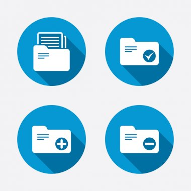 Accounting binders icons.