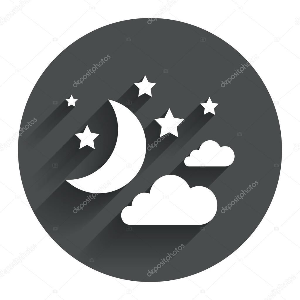 Moon Clouds And Stars Sign Stock Vector Blankstock 69630387