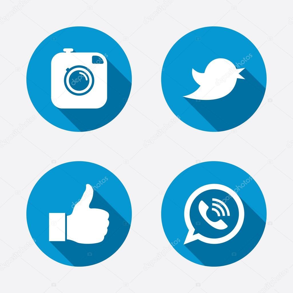 logo instagram facebook twitter vector