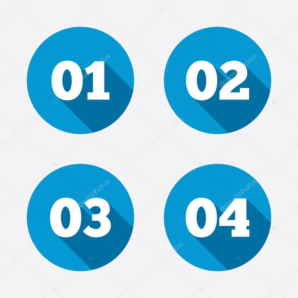 ステップ 1 2 3 つのアイコン ストックベクター blankstock 70580417