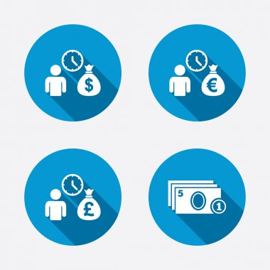 Bank loans icons.