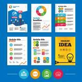 Fotografie Checklist and brainstorm symbols.
