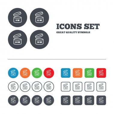 After opening use icons.