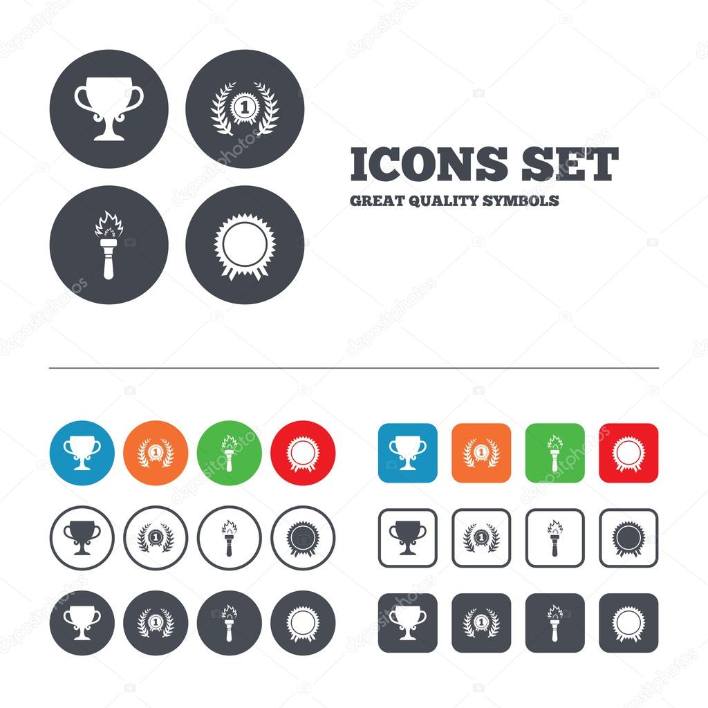 First Place Award Cup Icons U2014 Stock Vector © Blankstock 73563475  Depositphotos 73563475 Stock Illustration  First Place Award Template
