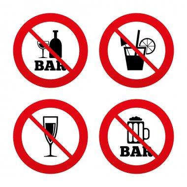 Bar or Pub icons.