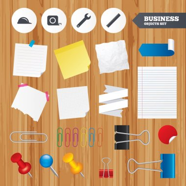 Office business stickers, pin, clip.