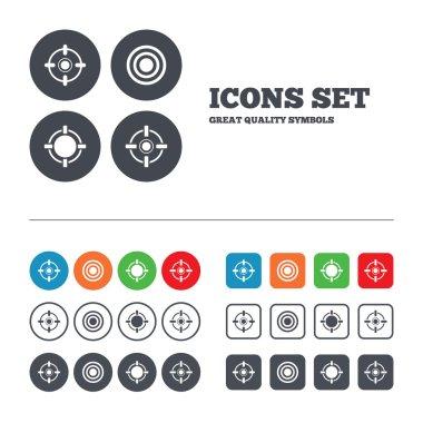 Target aim signs symbols.