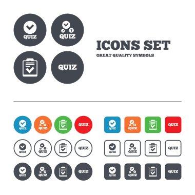 Checklist with check mark symbols