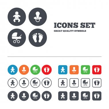 Baby infants icons.