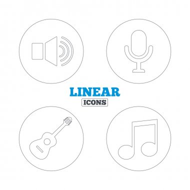 Musical elements icons