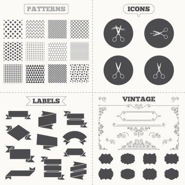 Hairdresser or barbershop symbols