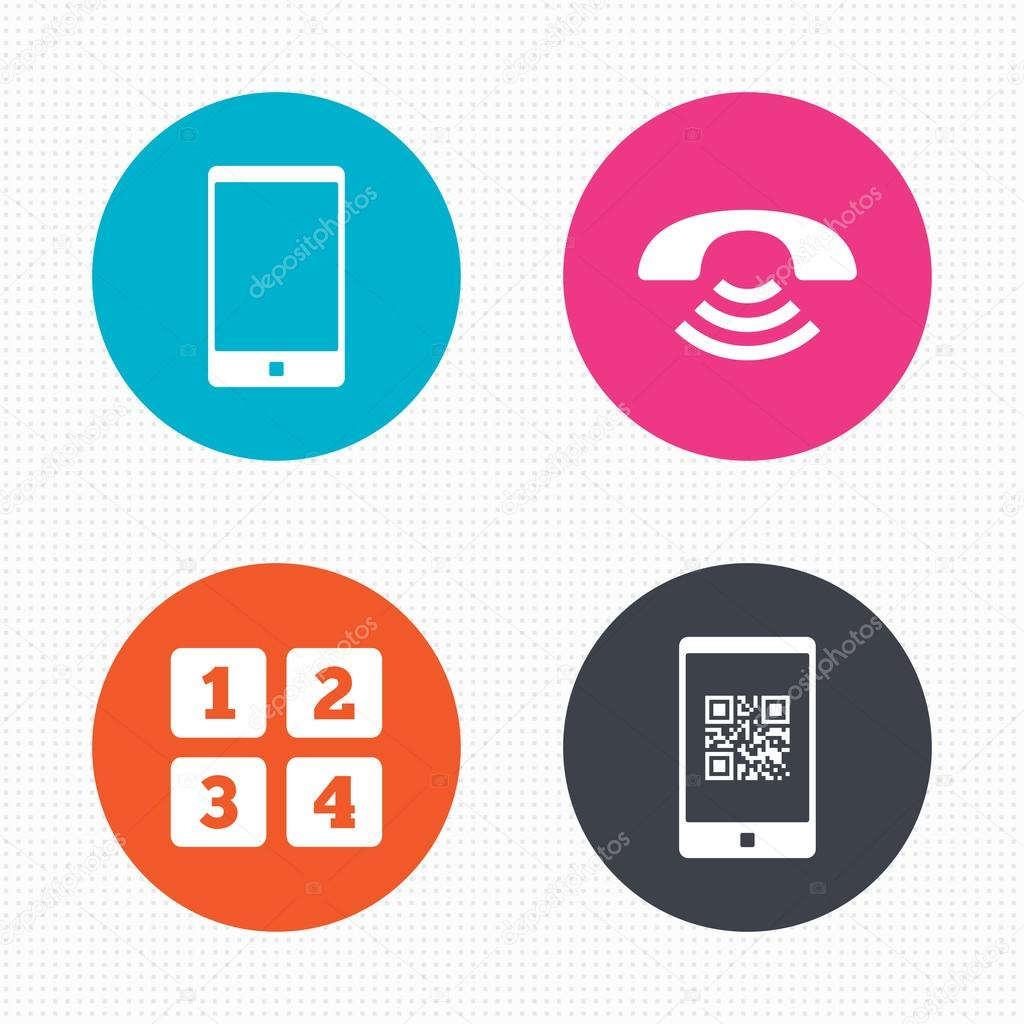 Iconos de tel fono centro de llamadas vector de stock for Telefono oficina de correos