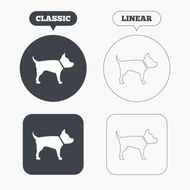 Dog sign icons