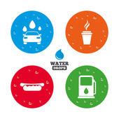 Photo Petrol or Gas station services icons.