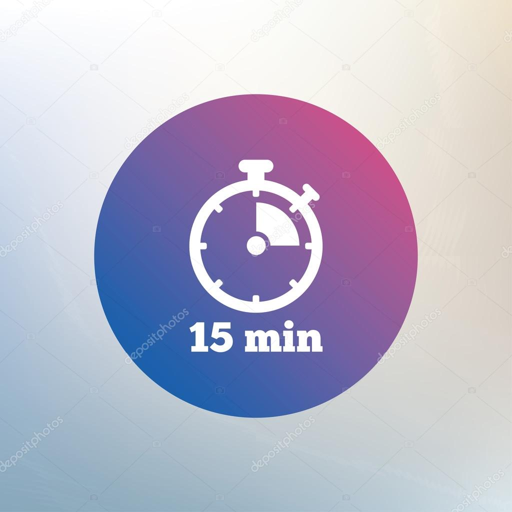 timer sign icon 15 minutes stock vector blankstock 78752896