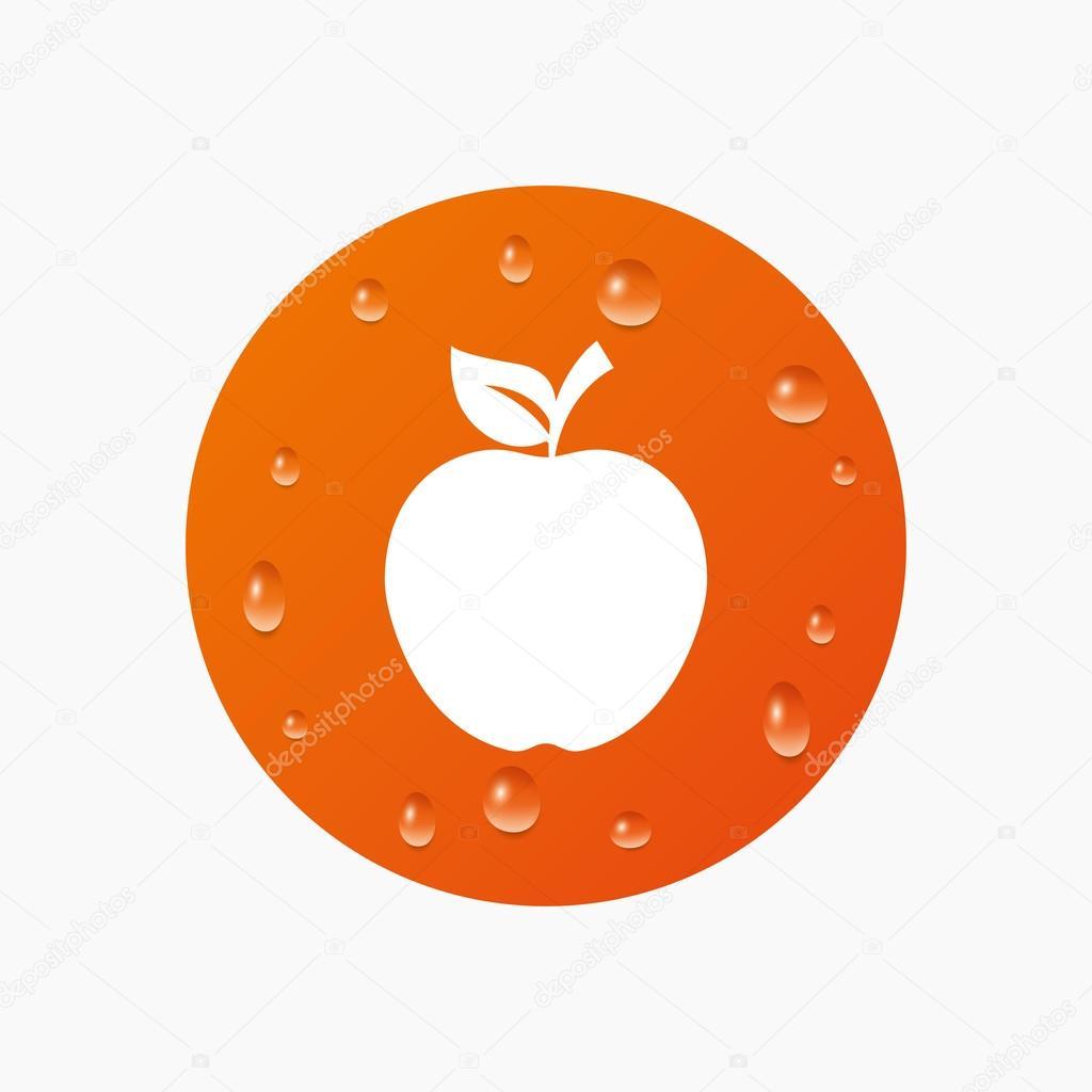 apple sign icon — stock vector © blankstock #79707654