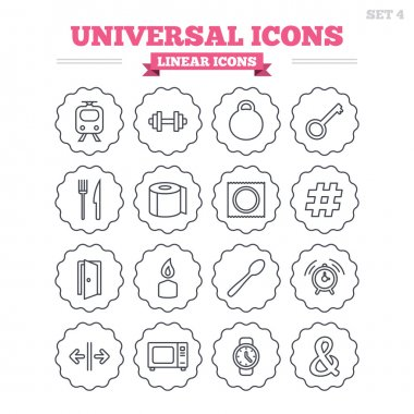 Universal linear icons set.