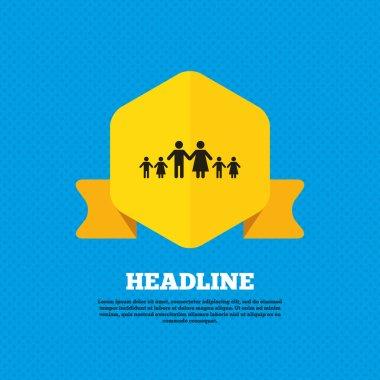 Children, family, parents icon