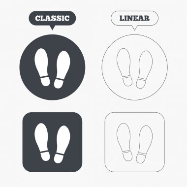 Shoes print icons