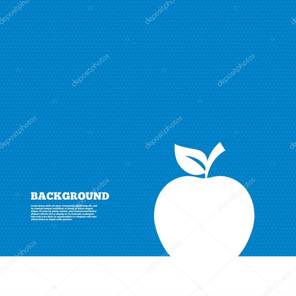 apple sign icon. — stock vector © blankstock #79712214