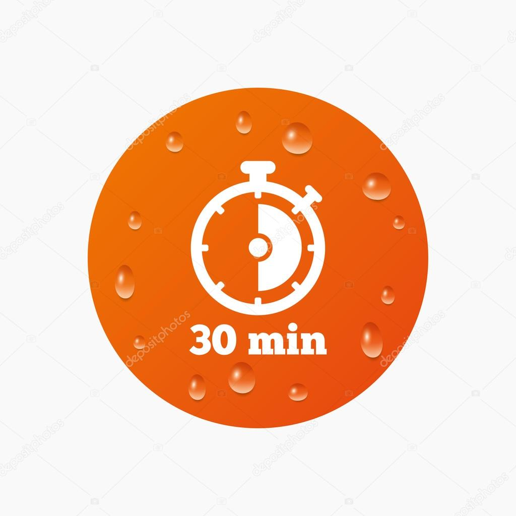 25 30 30 Helloworld: Símbolo Del Cronómetro De 30 Minutos