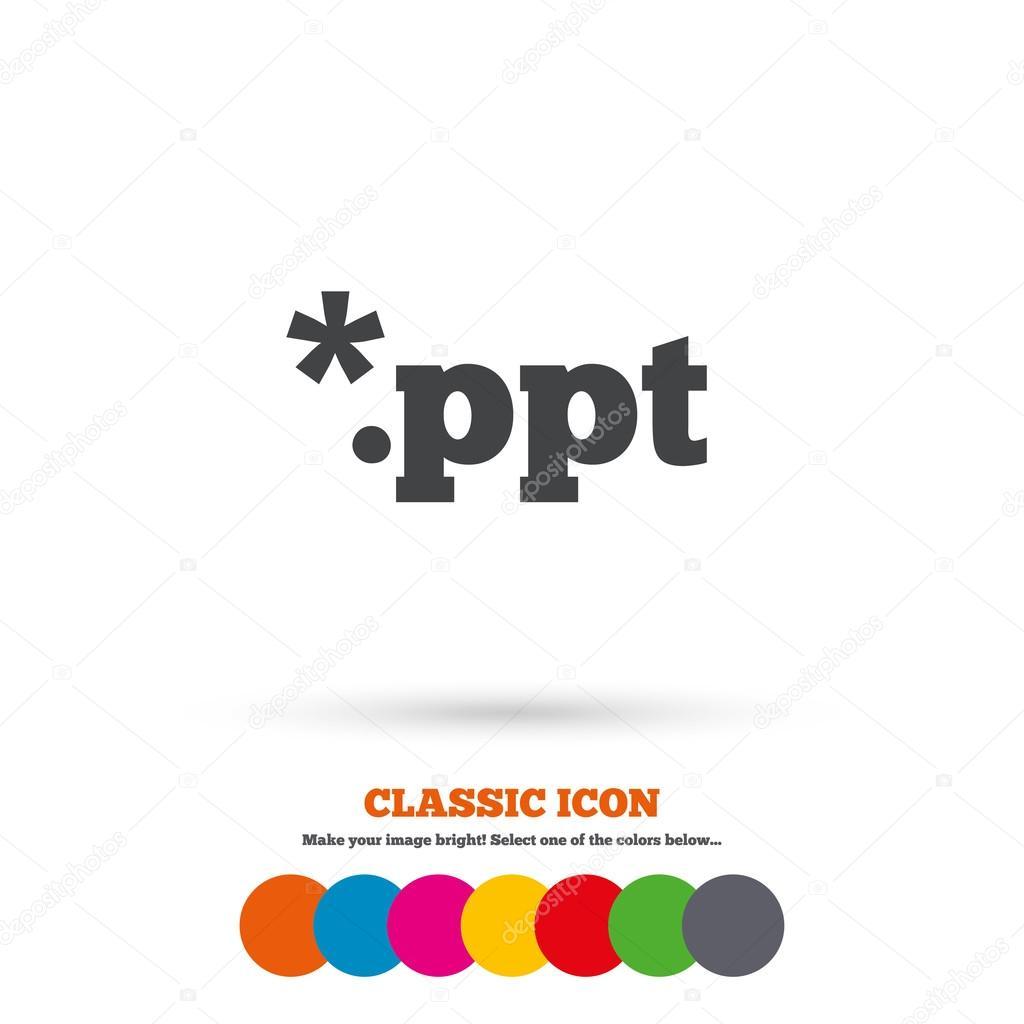 file presentation icon download ppt ストックベクター blankstock