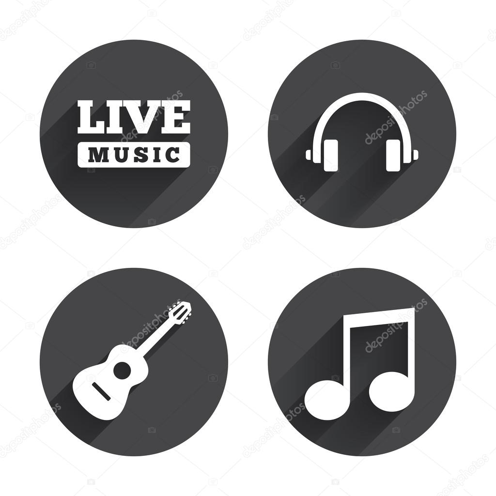 Musical elements, notes icons