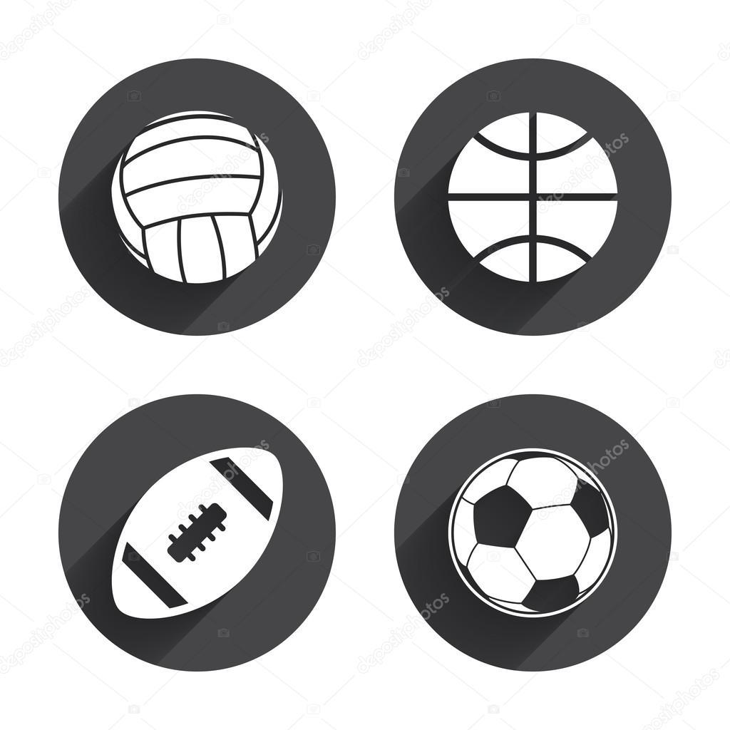 2274361200d004 Спортивні м'ячі. Волейбол, баскетбол, футбол. — Стоковий вектор ...