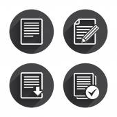 Document, download  file  icons