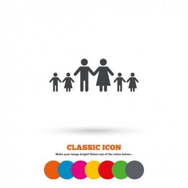 Complete large family icon.
