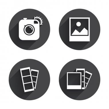 Photo camera, flash icons
