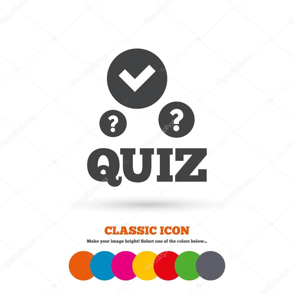 Quiz Question Answer Game Icon Stock Vector C Blankstock 80512968
