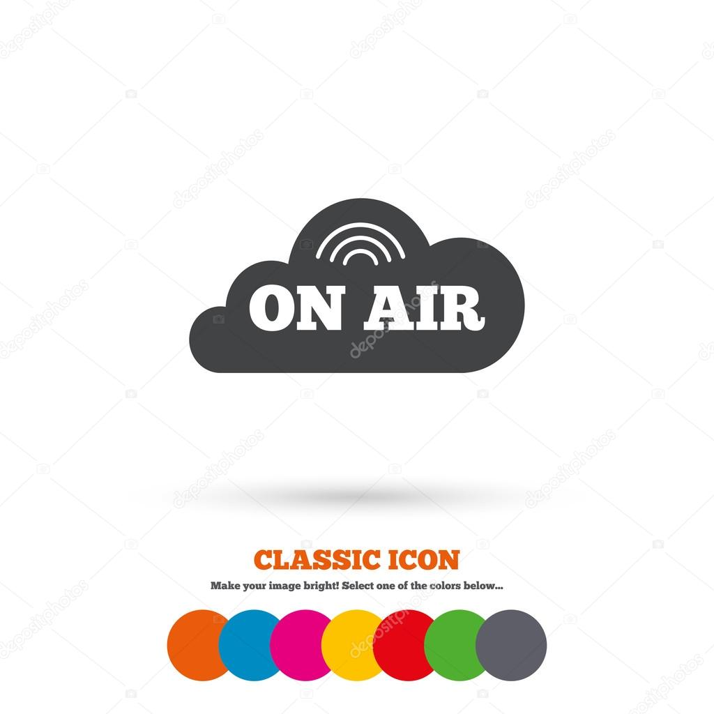 On air, Live stream icon.