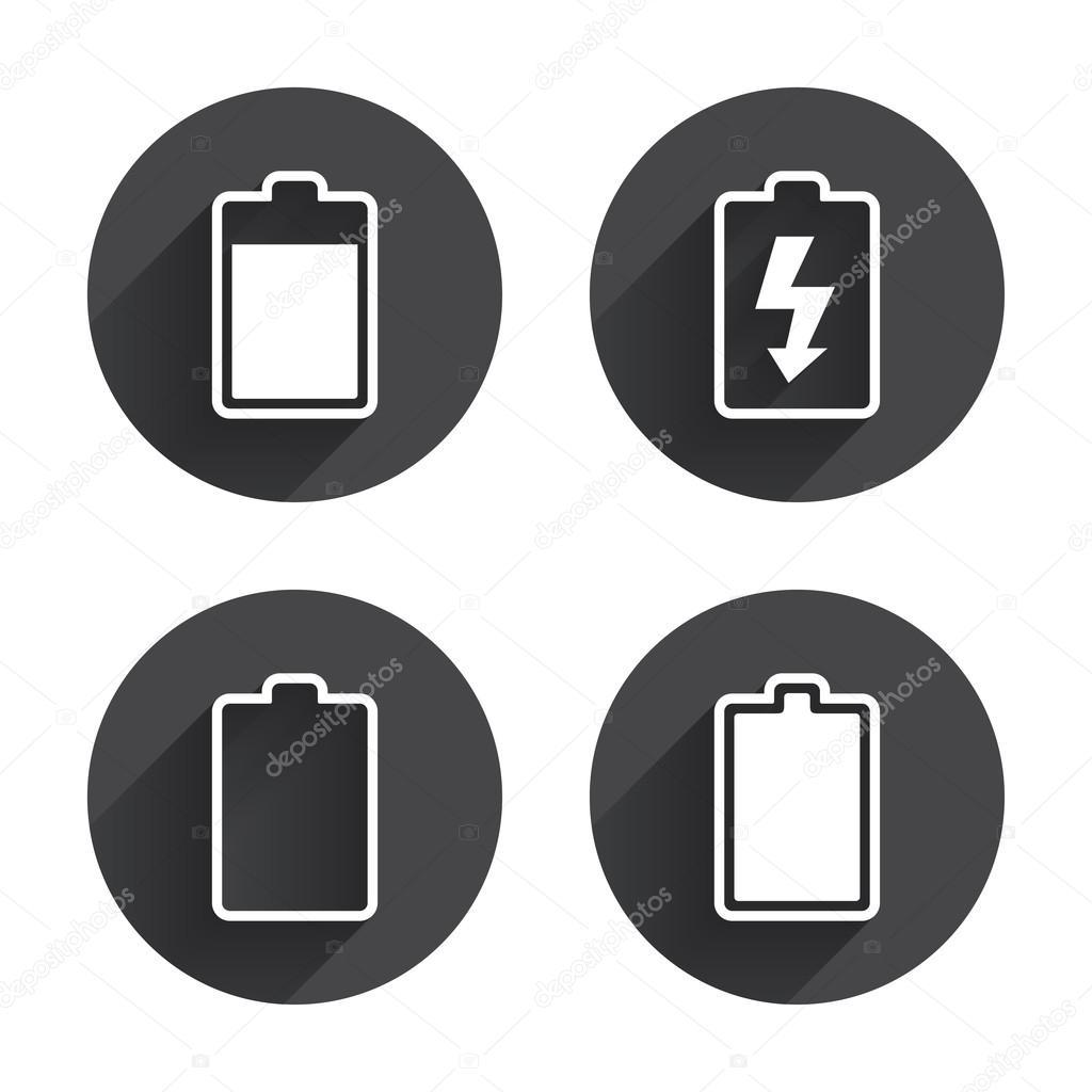 Aufladen des Akkus, Elektrizität, Symbole — Stockvektor © Blankstock ...