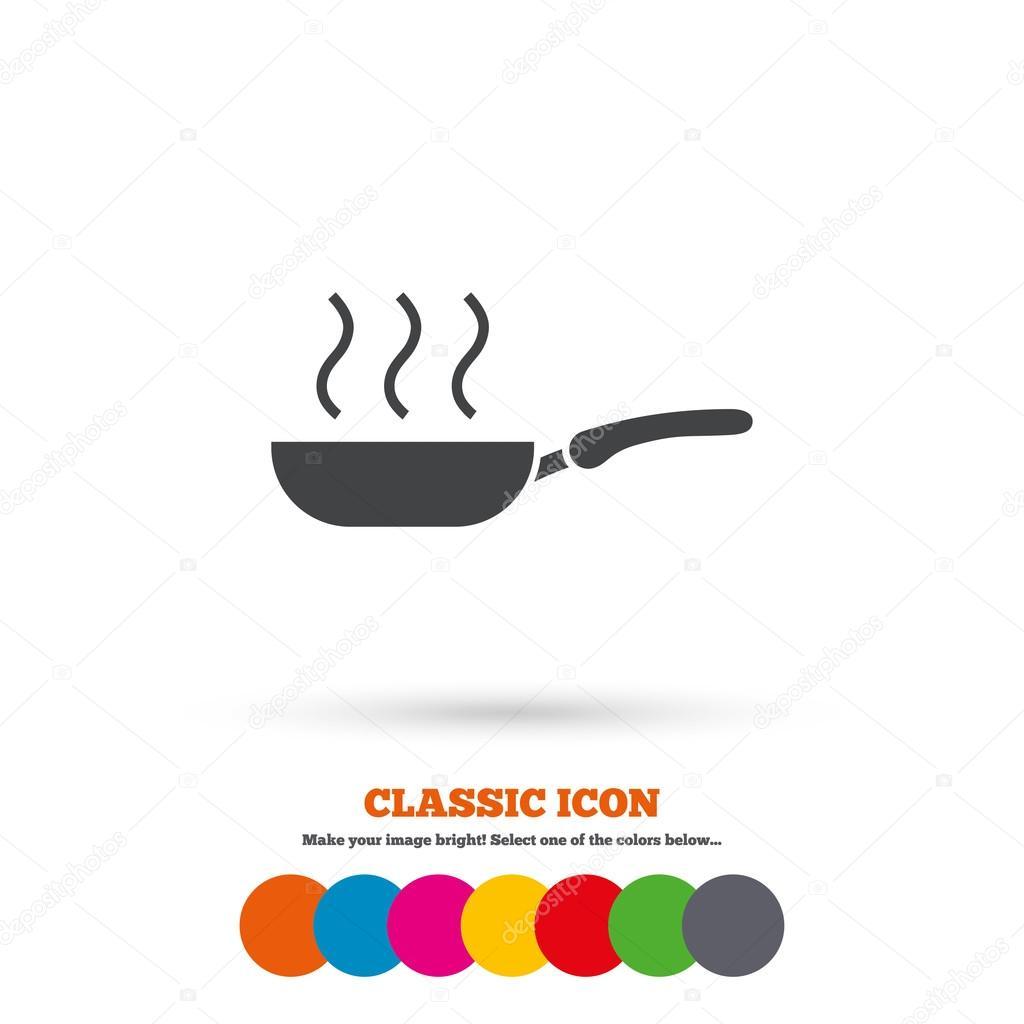 Frying pan, food icon