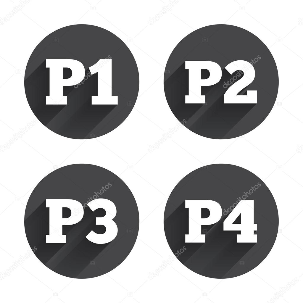 Car Parking Floors Icons Stock Vector Blankstock 80516430
