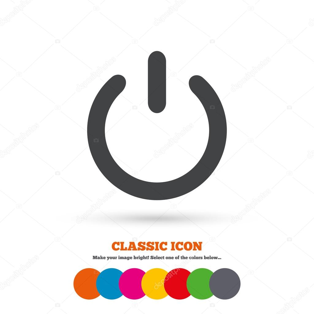電源記号、スイッチ ・ アイコン — ストックベクター blankstock