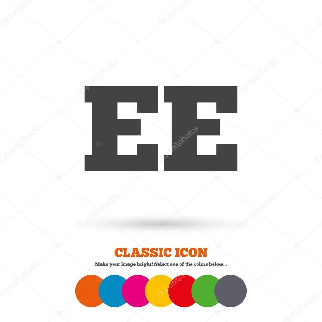 Estisch Ee Pictogram Stockvector Blankstock 80517166