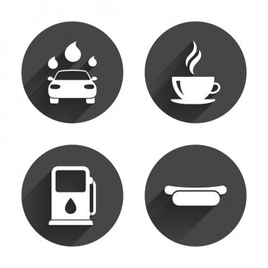 Petrol or Gas station services icons.