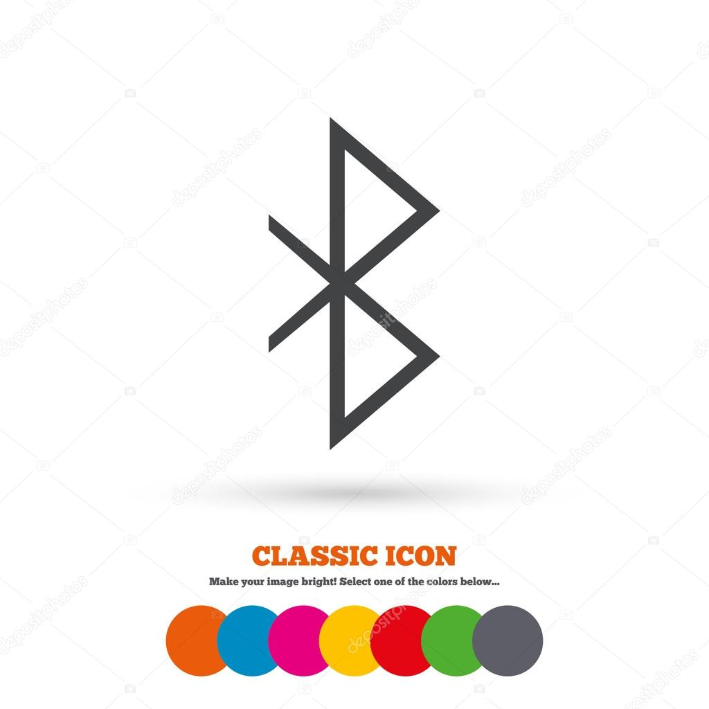 Bluetooth Mobile Network Symbol Stock Vector Blankstock 81036276