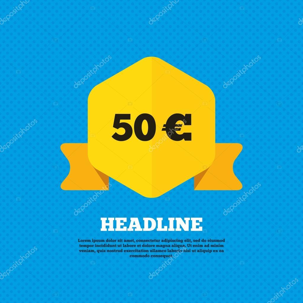 50 Euro Sign Icon L Stock Vector Blankstock 81036316