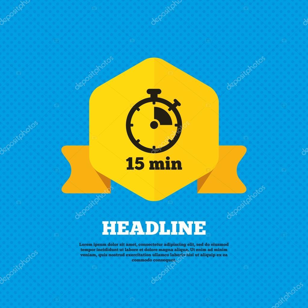 timer 15 minutes stopwatch icon stock vector blankstock 81037540