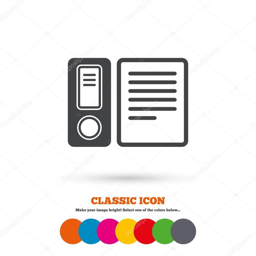 Comptabilisation Liant Symbole De Dossier Image Vectorielle