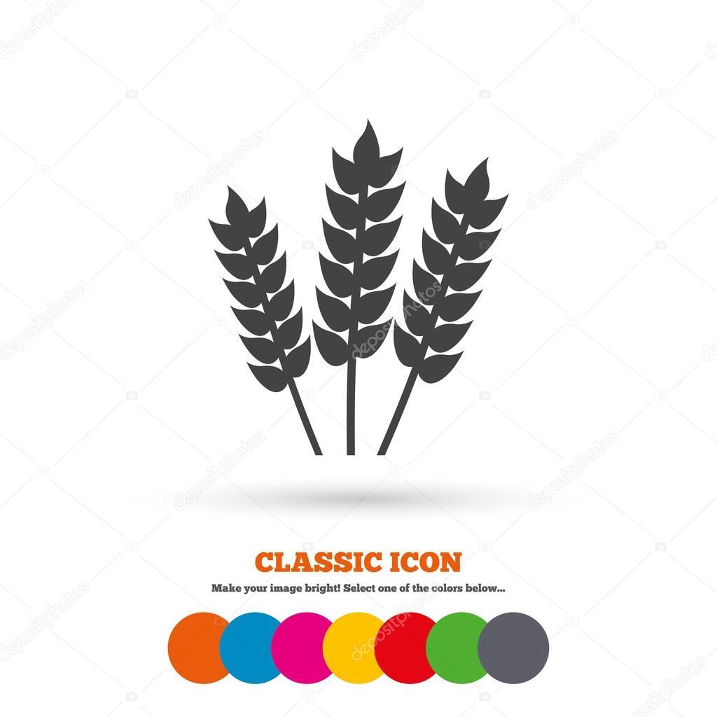 Agricultural, Gluten free icon — Stock Vector © Blankstock