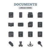 Fotografie Dokumente lineare Symbole