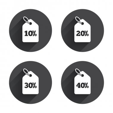 Sale price tag icons.