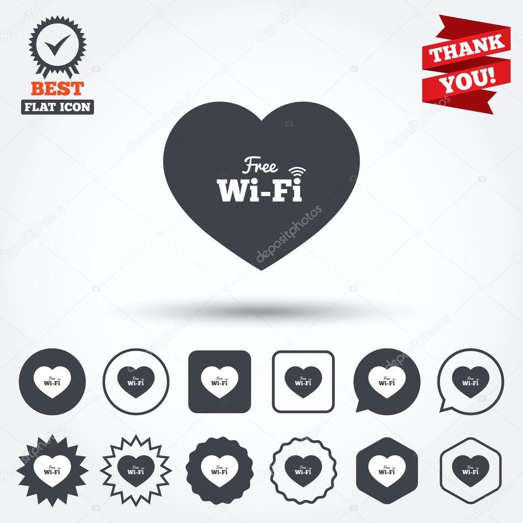Señales de wifi gratis de amor — Archivo Imágenes Vectoriales ... 1e3d739b3759f