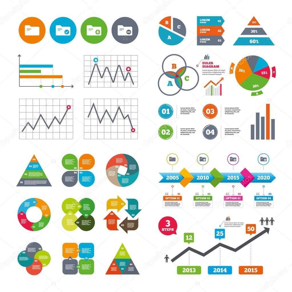 Cones de ligantes de contabilidade vetores de stock blankstock business data pie charts graphs accounting binders icons add or remove document folder symbol bookkeeping management with checkbox ccuart Choice Image
